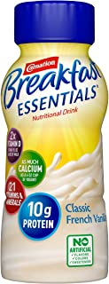 Carnation Breakfast Essentials Ready-to-Drink, Classic French Vanilla, 8 Ounce Bottle (Pack of 24) (Packaging May Vary)