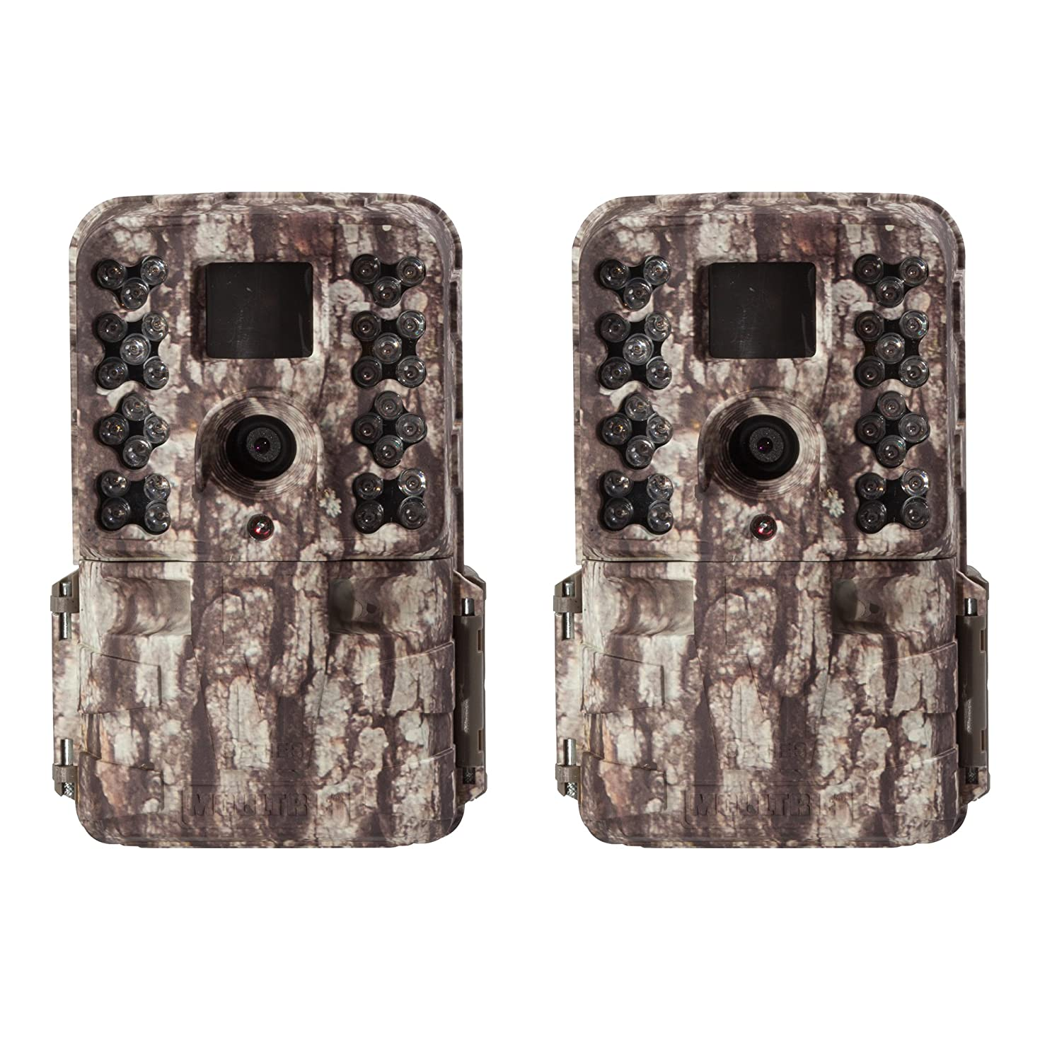 Moultrie M-40 16MP 80' FHD Video Infrared Game Trail Camera, 2 Pack   MCG-13181