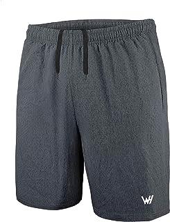WHCREAT Pantaloncini da Running Uomo con Tasche con Cerniera per Allenamento in Palestra Sportiva