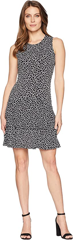Leopard Sleeveless Flounce Dress