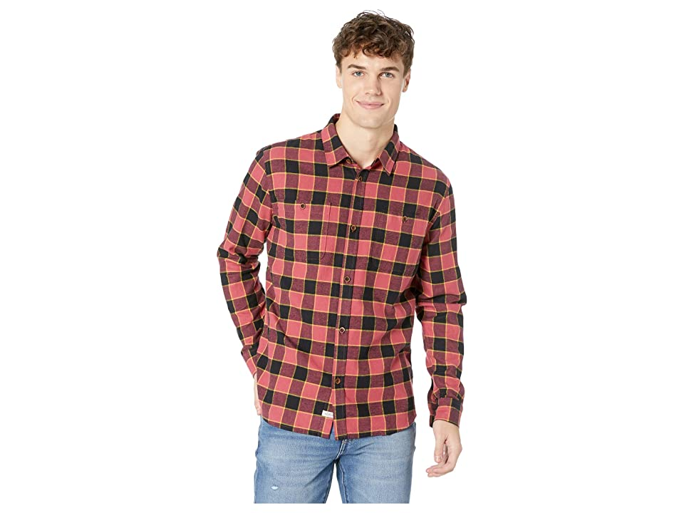 Quiksilver Waterman Cold March Long Sleeve Flannel Shirt (Cardinal) Men