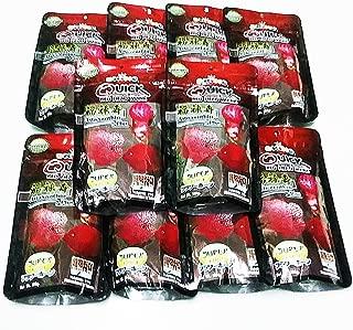 12 packs of 3.5 oz (100g) Okiko Quick RED Head Mark Flowerhorn Fish Food with Astaxanthin Plus 3 in 1 Flowerhorn Cichlid Fish Food