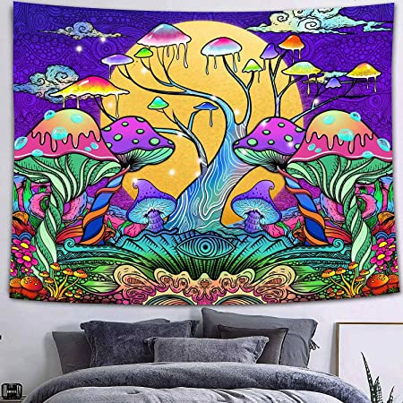 Hippie Psychedelic Tapestry Wall Hanging Art Home Tapestry Party Decor New
