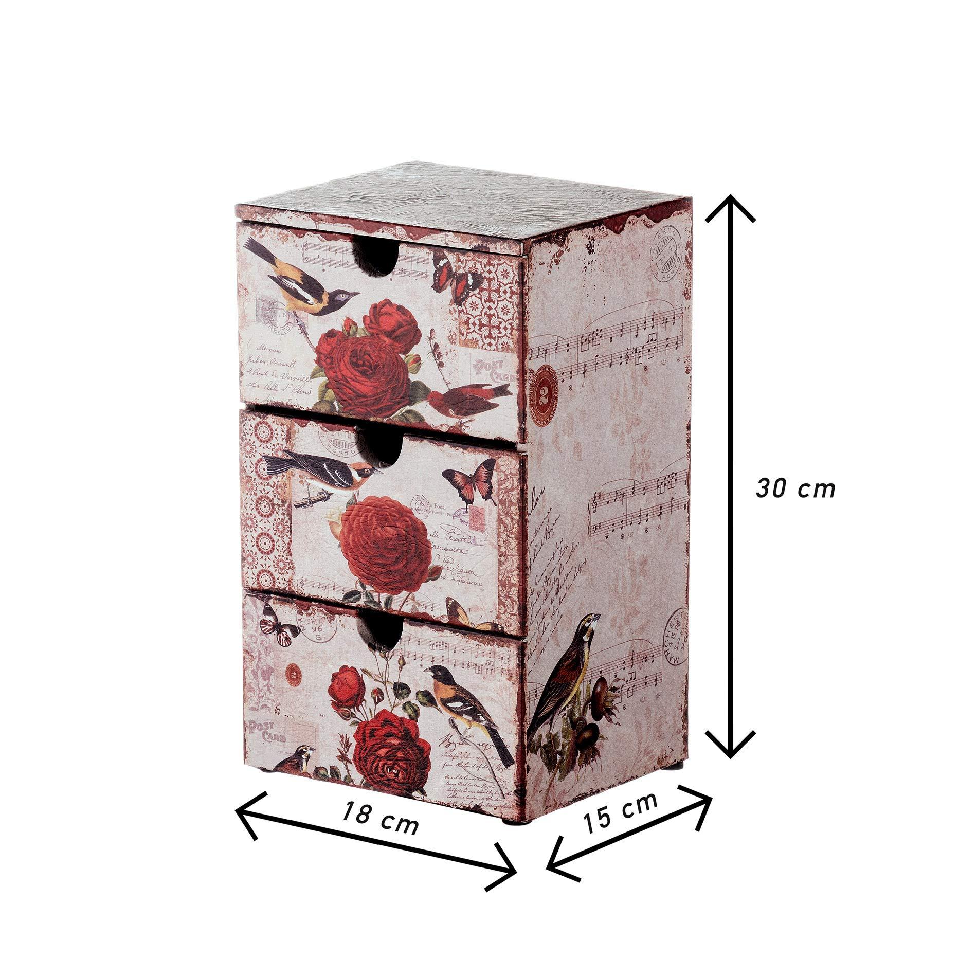 - Art RE4772 Organizador cosm/éticos en Estilo Vintage Medidas: 30 x 24 x 15 cm AxANxF marr/ón Rebecca Mobili Joyero con 6 cajones para almacenar Trucos y Accesorios PVC
