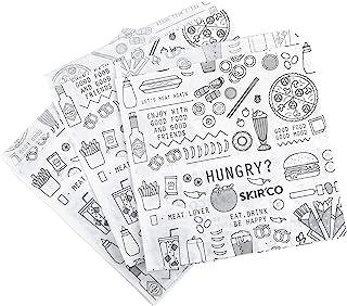 SKIR'CO Lot de 150 sacs à sandwich résistants à la graisse 15 x 15 cm