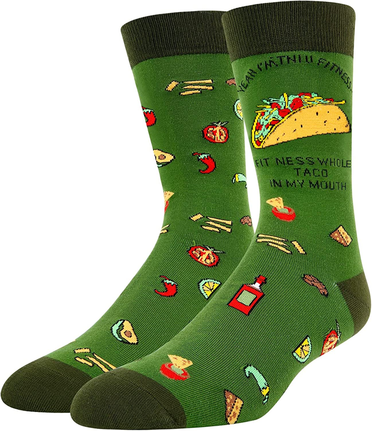 New item HAPPYPOP Taco Socks Mexican Gi for Gifts Max 44% OFF Men
