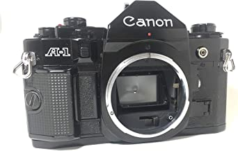 Black Canon A-1 SLR 35mm manual focus camera; body only, lens is not included
