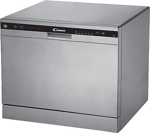 Candy CDCP 6S Petit lave-vaisselle Hauteur 43,8 cm 6 services 6 programmes Système anti-débordement Départ différé Cl...
