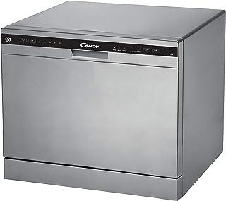 Candy CDCP 6S Petit lave-vaisselle Hauteur 43,8 cm 6 services 6 programmes Système anti-débordement Départ différé Classe ...