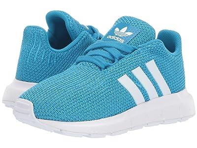 adidas Originals Kids Swift Run I (Toddler) (Shock Cyan/White) Kids Shoes