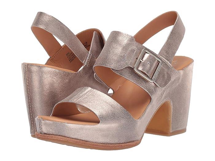 70s Shoes, Platforms, Boots, Heels Kork-Ease San Carlos Soft Gold Metallic High Heels $169.95 AT vintagedancer.com