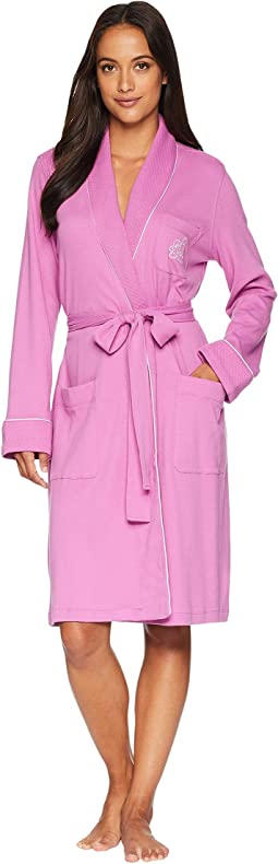 Essentials Quilted Collar and Cuff Robe