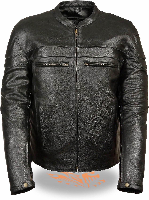 秀逸 Milwaukee Leather Men's Sporty セールSALE%OFF Crossover Jacket Scooter