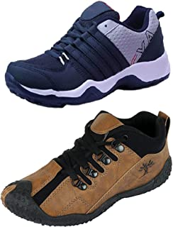 Chevit Combo Pack of 2 Sports Shoes (Running & Walking Shoes)