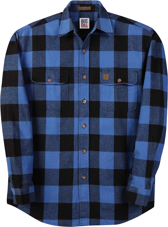 Big Bill Medium Tall (MT) Heavy Dury Flannel Work and Casual Shirts USA Made