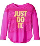 Nike Kids - Just Do It Wave Dri-FIT Modern Tee (Little Kids)