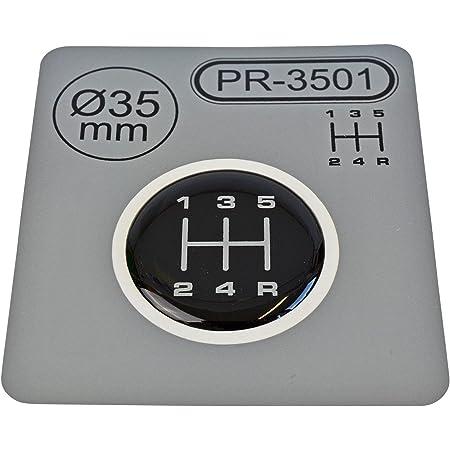 1x Schalthebel Aufkleber Durchmesser 35 Mm 5 Gang Schaltknauf Emblem Silikon Sticker Schema 1 Auto