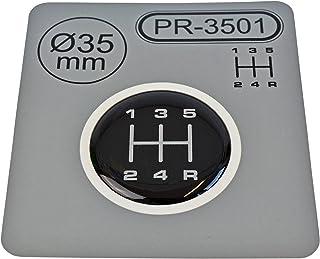 1x Schalthebel Aufkleber Durchmesser = 35 mm 5 Gang Schaltknauf Emblem Silikon Sticker | Schema 1