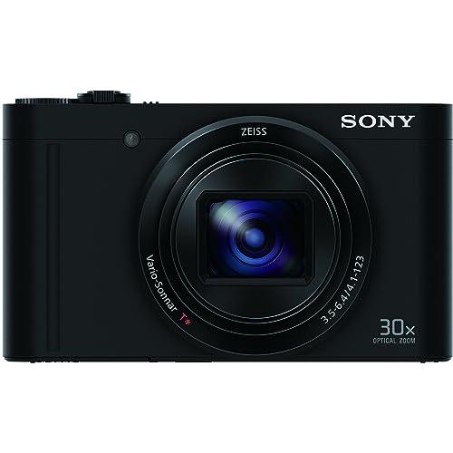 Sony Cybershot DSC-WX500/B 18.2MP Digital Camera with Memory Card 16GB (Black)