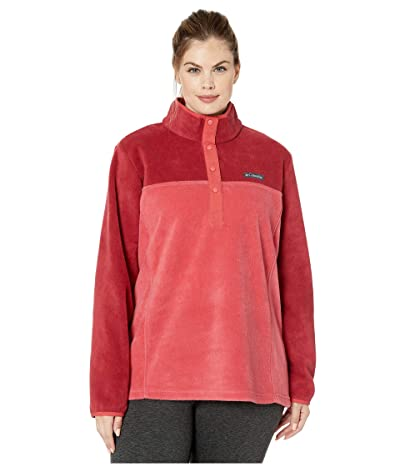 Columbia Plus Size Benton Springstm 12 Snap Pullover (Daredevil/Beet) Women