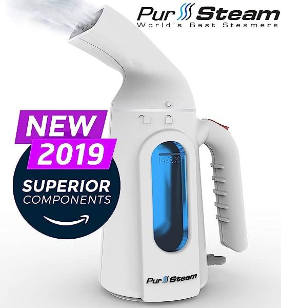 PurSteam 蒸笼衣服最高质量最快加热 InfaTherm 技术 8 合 1 除皱器清洁消毒刷新处理自动关闭