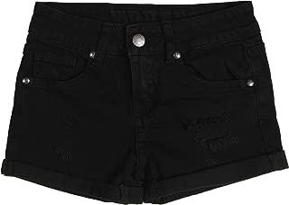 kids black jean shorts
