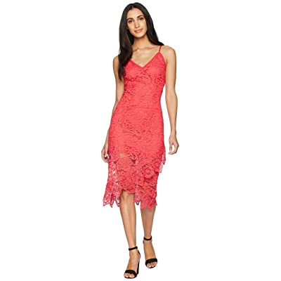 BB Dakota RSVP Rylee Lace Dress with Scallop Hem (Glow) Women