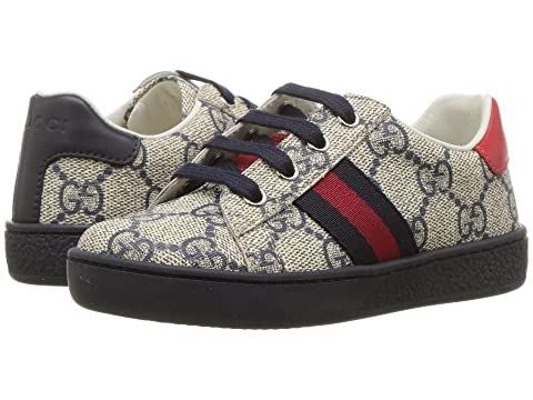 5d1a8222657 Gucci Kids GG Supreme Low-Top Sneaker (Toddler) at Luxury.Zappos.com