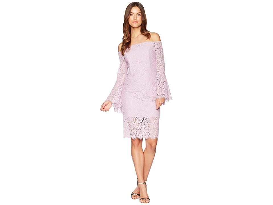 Bardot Solange Lace Dress (Lilac Mist) Women