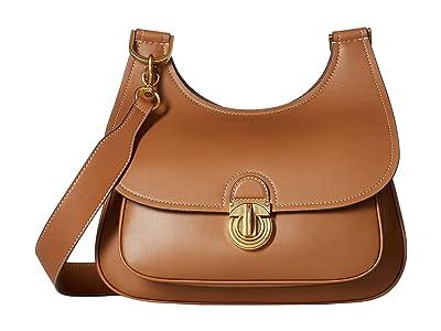 Tory Burch James Saddlebag (Moose) Handbags
