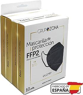 20 uds Mascarillas FFP2 negras homologadas y fabricadas en España CE 2797, filtrado de 5 capas - GrupoZona - Mascarilla ff...