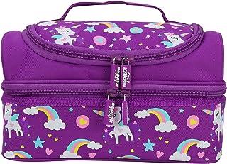 Smily Kiddos   Smily Dual Slot Lunch Bag Unicorn Theme – Purple   Kids & School Lunch Bag   Lunch Bag for Kids   Purple Lu...