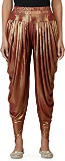 Shimmer Blend Relaxed Comfortable Dhoti Pants Yoga Fitness Active Wear for Women Dance - Free Size