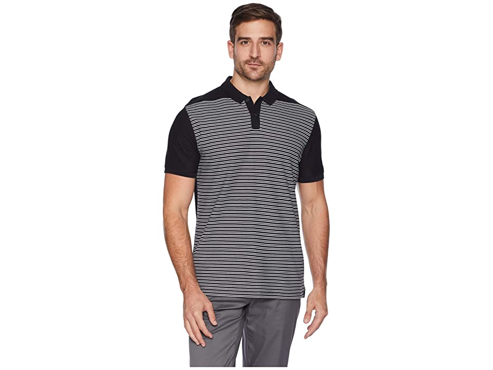 Nike Golf Dry Polo PQ Stripe (Black/White/Black/Black) Men