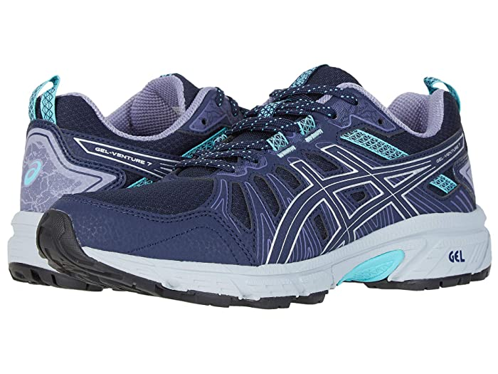 ASICS GEL-Venture(r) 7 (Black/Silver) Women's Running Shoes