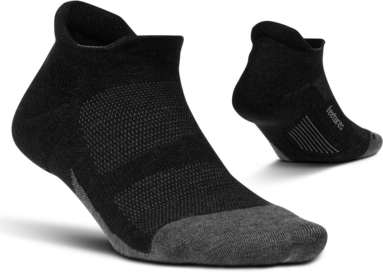 Feetures Merino 10 Cushion No Show Tab Sock Solid