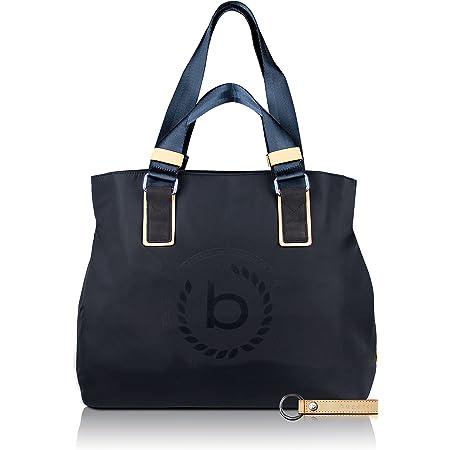 bugatti Lido Damen Shopper Frauen Handtasche Nylon mit RFID Fach, 39 x 17 x 34 cm