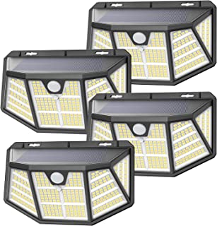 Luce Solare Led Esterno, SEZAC [310LED 3Modalità] luci solari con sensore di movimento, luci solari esterno impermeabili I...