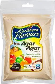 Karibbean Flavours Super Agar Agar Powder (4 Oz.) - Vegetarian Gelatin Substitute - For Desserts | Unflavoured | Sugar-Fre...