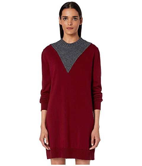 MM6 Maison Margiela Color Block Sweater Dress