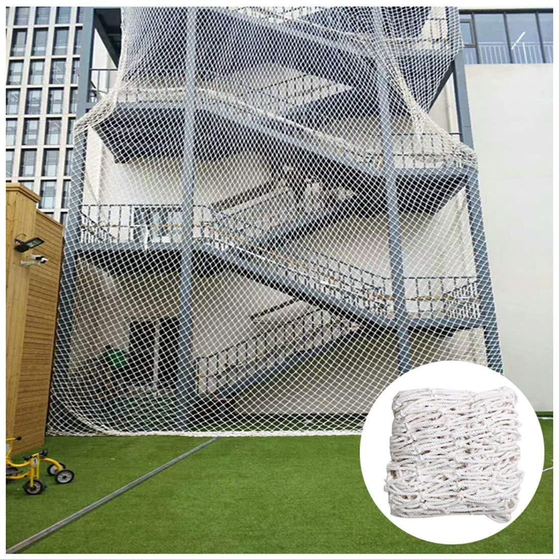 Red De Seguridad para Barandilla De Escalera Ingeniería De Protección contra Caídas Enrejado para Plantas Trepadoras Malla De Nylon Tarea Pesada 6mm/5cm Blanco Multi-tamaño (Size : 2x4m): Amazon.es: Jardín