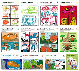 Explode the Code Books Set (12 Books): Books A,B,C + Books 1-8 + Placement Tests(A-C&1-8)