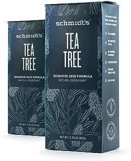Tea Tree Sensitive Skin Deodorant Stick (3.25 oz.)92G Odor Protection & Wetness Relief; Aluminum-Free) (2 Pack)