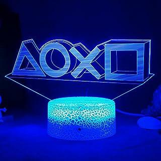 ZWOOS Gaming Lampe – 3D Illusion Nachtlicht - LED Gaming Licht mit Fernbedienung - 16 Farben - 4 Beleuchtungsmodi - Gaming...
