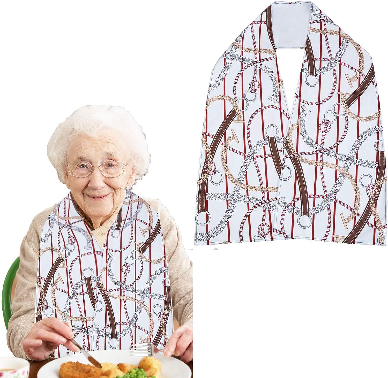 Adult Bib Mail order cheap Scarf- Shirt Protectors- Micro Fabric Cloth Mesa Mall Soft Suede