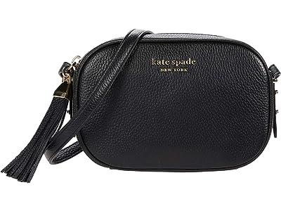 Kate Spade New York Annabel Medium Camera Bag (Black) Handbags