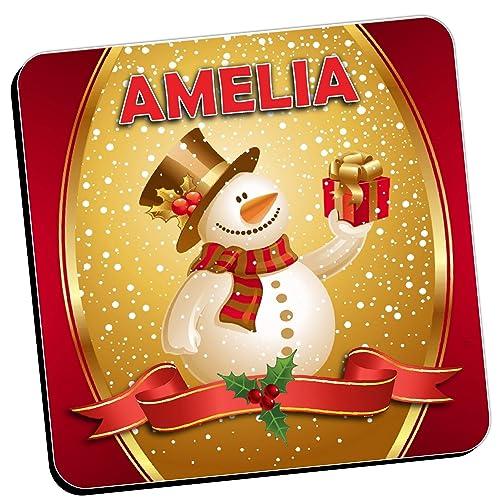 Merry Xmas Amelie Mini Heart Tin Gift Present Happy Christmas Stocking Filler