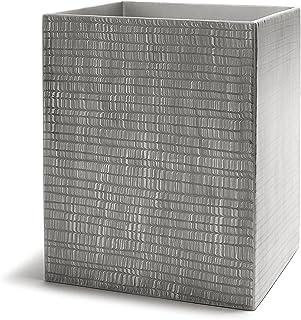 Kassatex Delano Bathroom Accessories (Waste Bin, Grey)