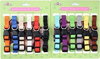 All4pet Soft Nylon Puppy Collars Puppy ID Collars Whelping Litter Collars 8/12/20 Pcs/Set(Deluxe)