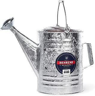 Behrens 212W 0717 212 3-Gallon Steel Watering Can, Silver